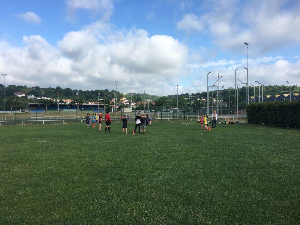 Start der Rugby Projektwoche an der Waldorfschule Marburg
